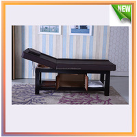 wooden spa table / massage bed