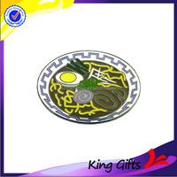 Custom metal lapel pin for bowl