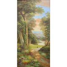 Peaceful classical landscape painting