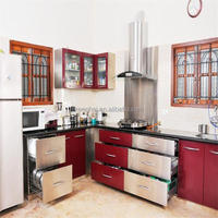 OEM Service Modular Stainless Steel Kitchen Cabinet Color Combinations