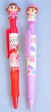 Cartoon logo with heat transfer printing barrel /Colorful custom design school stationery pens/best promo pens
