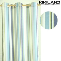 Simple style printed striped shower curtain