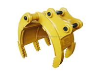 Hydraulic rotating wood or stone grapple for Komatsu PC250 Excavator