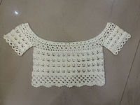 Lady Cropped Crochet pattern Off shoulder Top