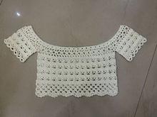 Lady Cropped Crochet pattern Off shoulder Top