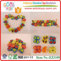 High Quality Colorful Fruit Beads Child Funny DIY Toy Wooden Fruit Shape Beads
