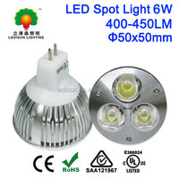 CE SAA UL CUL Listed LED Spotlight Bulb MR16 GU5.3 6W 12V AC/DC for Home, Landscape, Recessed, Accent Lighting