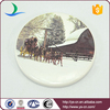 ceramic home decoration with the winter snows