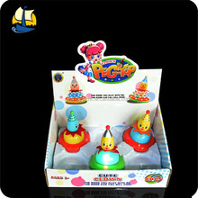 kid light up spinning top musical clown toys