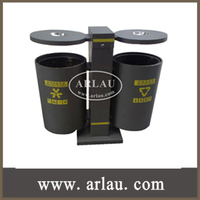 BS33 Outdoor Standing Feature Container with Recycling Trash Bins for Theme Park
