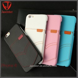 High quality Many card slot Ultra Slim phone leather cover for iphone 6 card case