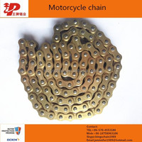 Made in china 40mn steel reinforced gold color 428H motorcycle chain