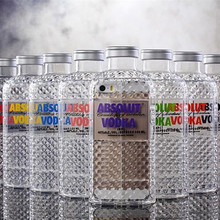 Absolut Vodka alcohol Bottle diamond pattern Transparent TPU Case For Iphone 5/5s 3D Clear phone Cover