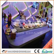 Mobile magnetic conveyor belt / desk / modern display counter / promotion table