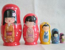 wooden Japanese Nesting Dolls