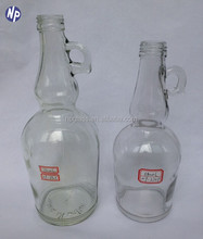 750ml liquor/alcohol glass bottle with ear