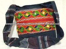 Cotton Canvas Boho Handcrafted Hippie Indian Sling Cross Body Long Shoulder Bag,wholesale shoulder bags india