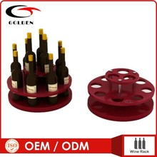 New design Acrylic and wood wine bottle wine rack display stand