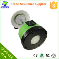 high quality rechargeable with mobile phone charger led solar power camping lantern