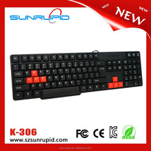 Promote Sale Cheap USB Interface Wired Computer Keyboard for PC and Laptop