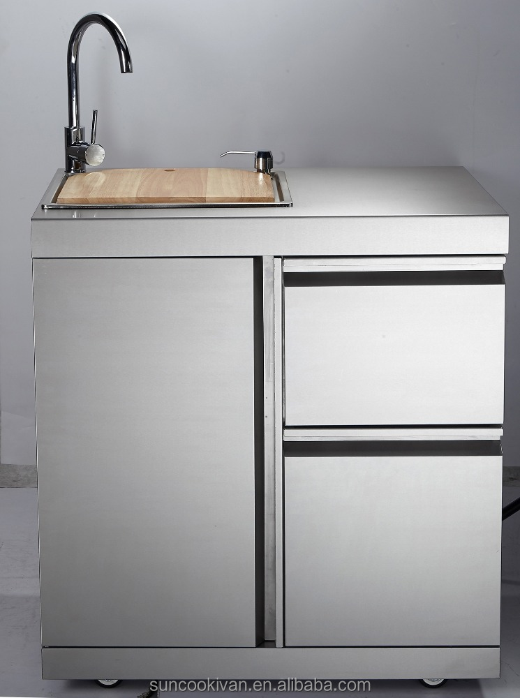 stainless steel outdoor sink cabinet with stainless steel