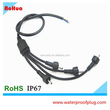 Splitter 1 input 4 outputs Electrical cable waterproof Y plug