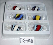 Wholesale colorful glass candy jars for gift use