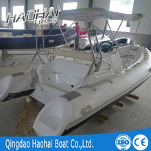 CE 4.7m hypalon/pvc tube Customized rigid inflatable boat/rib boat