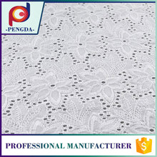 Dress fabric supplier Best selling Floral Net 100% cotton embroidery fabric for skirts