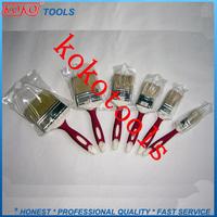 708 double color plastic handle metal cover bristles pig paint brush hair