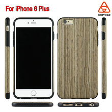 Hand Finished Back To Nature Wooden Case, Carbon Bamboo Wooden + TPU FOR iPhone 6S Plus Back Cover Case for Apple iPhone 6(4.7)