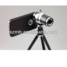 10X Optical Zoom Mobile Phone Telescope Lens with Tripod and Plastic Case for iPhone 4 4S 5 dropship