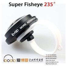Universal clip lens 235 degree super fisheye mobile phone lens , mobile phone flashing accessories