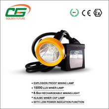 PC housing high brightness 6.6Ah li-ion battery rechargeable led mining headlamp