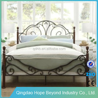 Home bedroom furniture king size wrought iron beds king size trundle bed