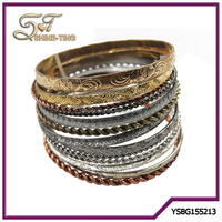 2015 gold latest design daily wear bangle for lady