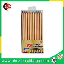 12 Colors Nature Colored Pencil in plastic bag