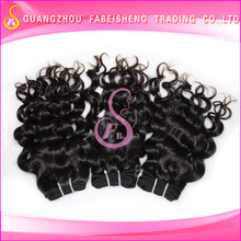 Amazing and Charming high quality unprocessed hair weft 20inch human hair ponytail extension