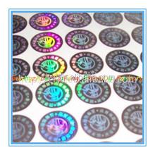 Cheap custom made 3d security transparent laser Hologram sticker label, Anti-counterfeit anti-fake anti-theft adhesive sticker