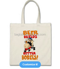 New Style Fashion Designed Cotton Canvas Beer Gift Bag 2014 Wholesale