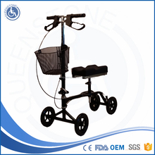 Sick Double brake knee scooter knee rehabilitation equipment factory for disabled