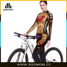 Latest Pro Team Race Cycling Wear Unique Design OEM/ODM For Female Sexy Panther Lady