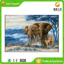 Art Draw Factory Room Decor Art Diamond Hand Painted Elephant Painting