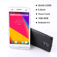 Multifunction original 5 inches Quad-Core Processer mtk6582 android Dual Card smart mobile phone