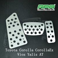 Aluminum car brake pedal foot pedal fit for Toyota Corolla Vios CorollaEX Yalis AT