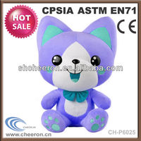Smiley toy blue cat plush toys