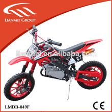 gas powered mini motos de cross 49cc dos tiempos refrigerado por aire de la motocicleta
