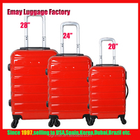 New Design Hard Shell 4 Wheels ABS PC Trolley Case