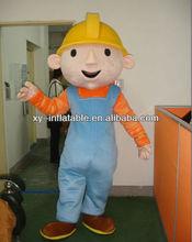 2012 New Design Advertising Bob the Builder Mascot Costume
