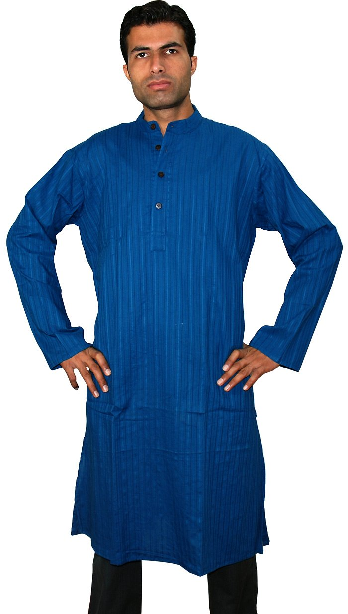 Indian Ethnic Yoga Dolby Mens Long Cotton Kurta Shirt ...